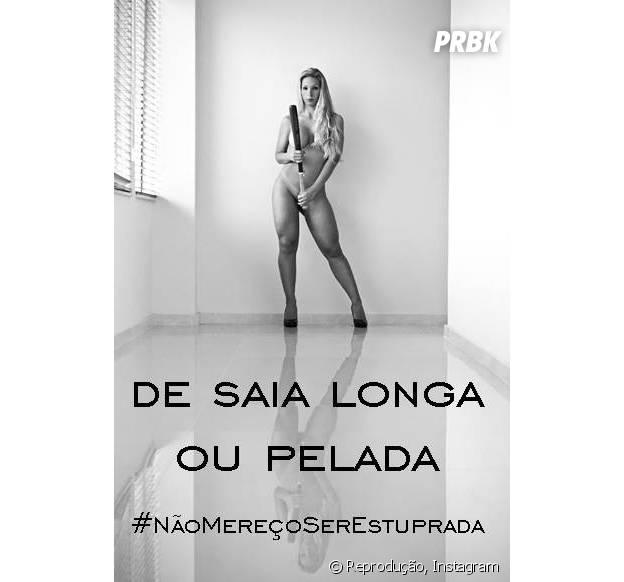 A funkeira Valesca Popozuda apoiou a campanha #EuNãoMereçoSerEstuprada