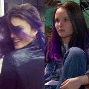 """Giovanna Grigio, de """"Êta Mundo Bom!"""", ou Larissa Manoela? Quem fica melhor de cabelo roxo?"""