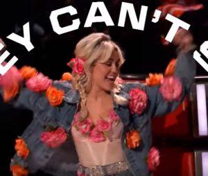 """No """"The Voice US"""": Miley Cyrus faz os outros treinadores pirarem no programa"""