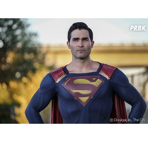 """Em """"Supergirl"""", Superman (Tyler Hoechlin) aparece com uniforme em novas fotos"""