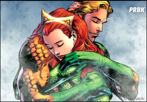 Aquaman e Mera são muito shippados pelos fãs de quadrinhos
