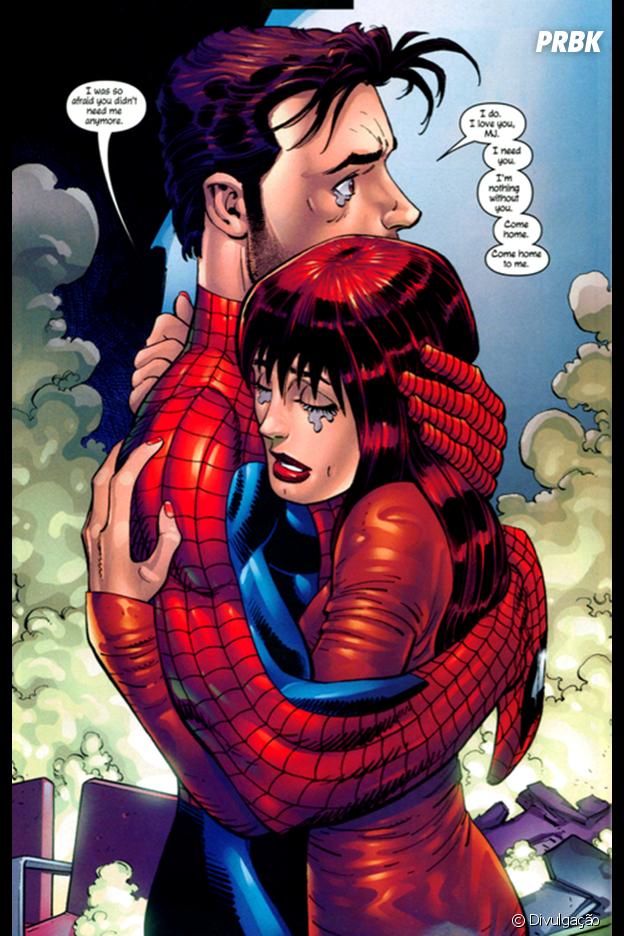 Homem-Aranha e Mary Jane formam um dos casais mais amados das HQ's!