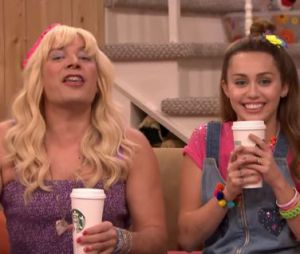 "Miley Cyrus participa do quadro ""Ew"", do programa do apresentador Jimmy Fallon"