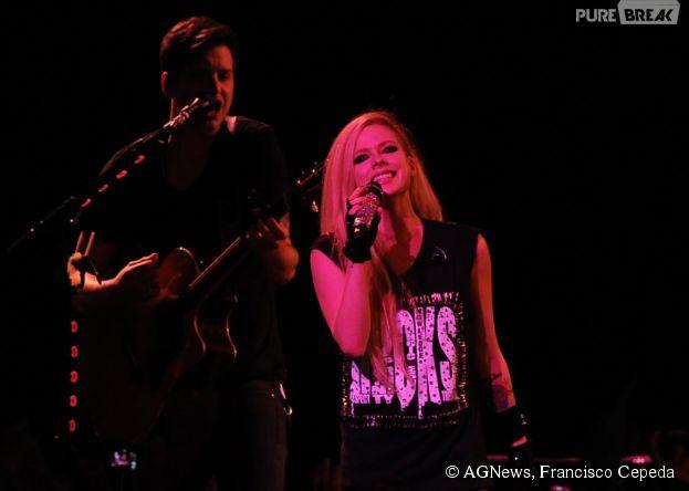 Avril Lavigne se apresenta em São Paulo