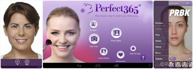 """Como diz no aplicativo Perfect365 """"um toque faz você parecer incrível!"""""""