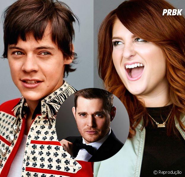 Harry Styles, do One Direction, e Meghan Trainor escrevem música para Michael Bublé!