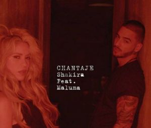 "Capa do single ""Chantage"", de Shakira com Maluma"