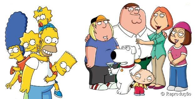 """""""Os Simpsons"""" e """"Family Guy"""" juntos em setembro de 2014"""