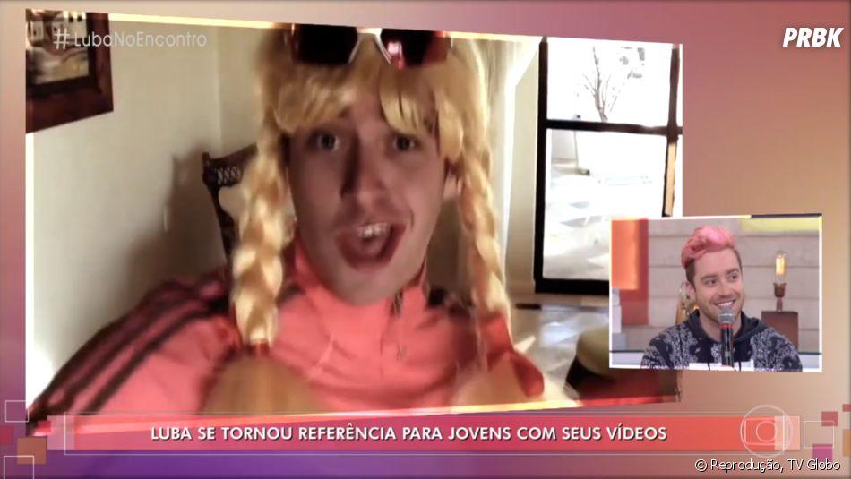 """Luba ganhou uma homenagem no """"Encontro com Fátima Bernardes"""". Programa mostrou um pouco mais da carreira do youtuber"""