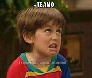 """O meme """"Por que você não amadurece?"""" pode ser usado até quando alguém diz que te ama"""