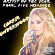 Carrie Underwood vai concorrer ao prêmio de Artista do Ano pelo American Music Awards
