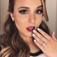 Larissa Manoela deixa os cabelos coloridos para show e mostra novo visual no Instagram!