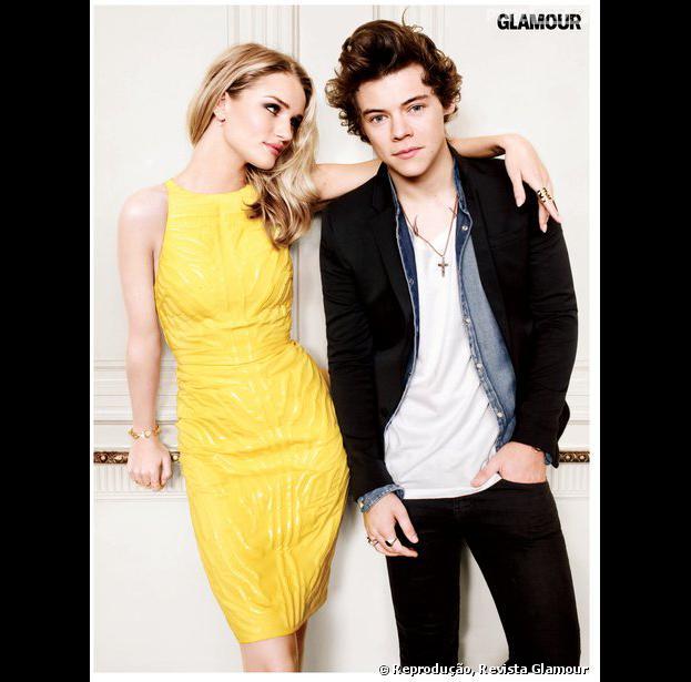 Harry Styles afirma que a mulher mais bonita do mundo é Rosie Huntington-Whiteley