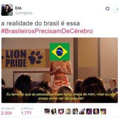 Hashtag BrasileirosPrecisamDeCérebro volta a criar confusão entre Brasil e Portugal no Twitter!