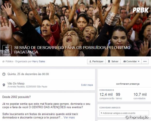 No Facebbook: Possuído pelo ritmo Ragatanga? Participe!