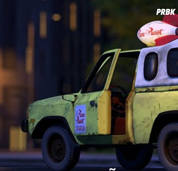 O carro do Pizza Planet aparece nos 17 filmes da Pixar