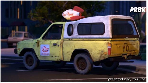 """Carro do Pizza Planet em """"Toy Story 2"""""""