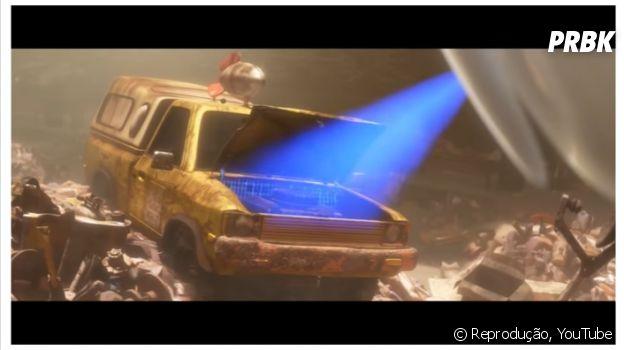"""Carro do Pizza Planet em """"Wall-e"""""""