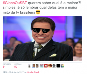 "Hashtag ""GloboOuSBT"" viraliza e vira trending topic no Twitter!"