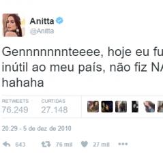 10 vezes em que a Anitta representou todo mundo no Twitter