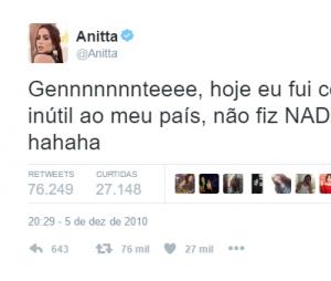 Anitta é gente como a gente!