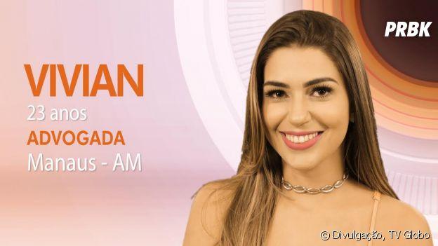 "Do ""BBB17"": Vivian tem 23 anos e é de Manaus"