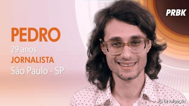 """Do """"BBB17"""": Pedro é jornalista e mora em São Paulo"""