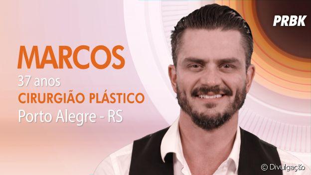 """Do """"BBB17"""": Marcos é do Rio Grande do Sul e é cirurgião plástico"""