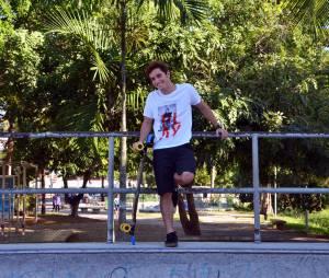 Christian Monassa não largava o skate um segundo na sessão de fotos com o Purebreak!