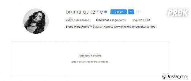 Instagram de Bruna Marquezine agora é privado
