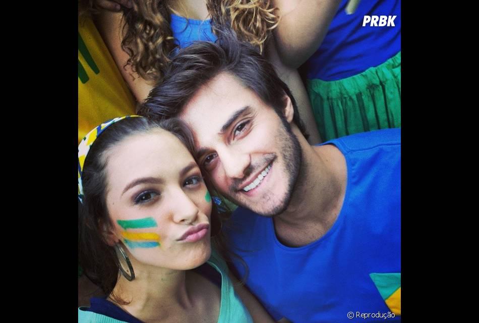 """Em """"Malhação"""", Hugo Bonemer se vestiu de Brasil junto com Laís Pinho"""