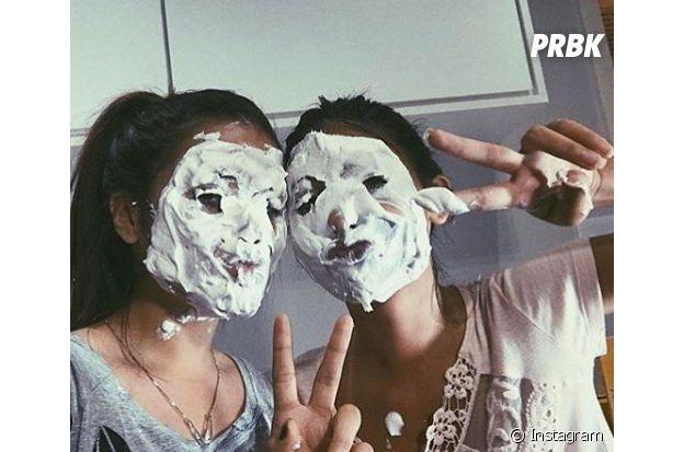 Maisa Silva e Fernanda Concon cheias de torta