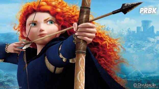 """Merida fez a diferença como guerreira no filme """"Valente"""""""