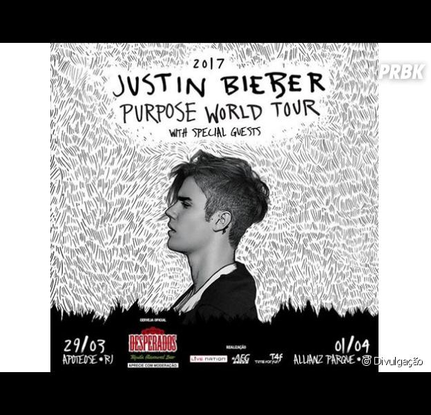 """Justin Bieber chega ao Brasil este mês para a """"Purpose World Tour""""!"""