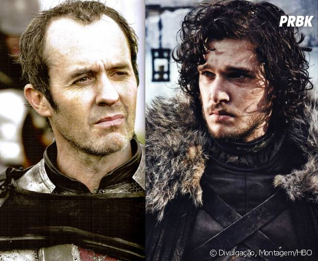 "Jon (Kit Harington) e Stannis (Stephen Dillane) se uniram em ""Game of Thrones"""