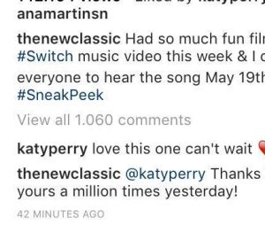 Katy Perry comenta em publicação de Iggy Azalea sobre a parceria com Anitta