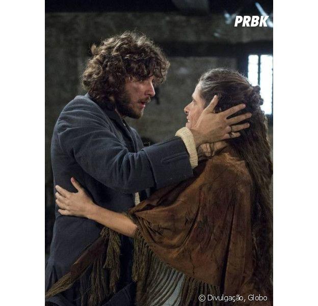 """Em """"Novo Mundo"""", Elvira (Ingrid Guimarães) reencontra Joaquim (Chay Suede)!"""