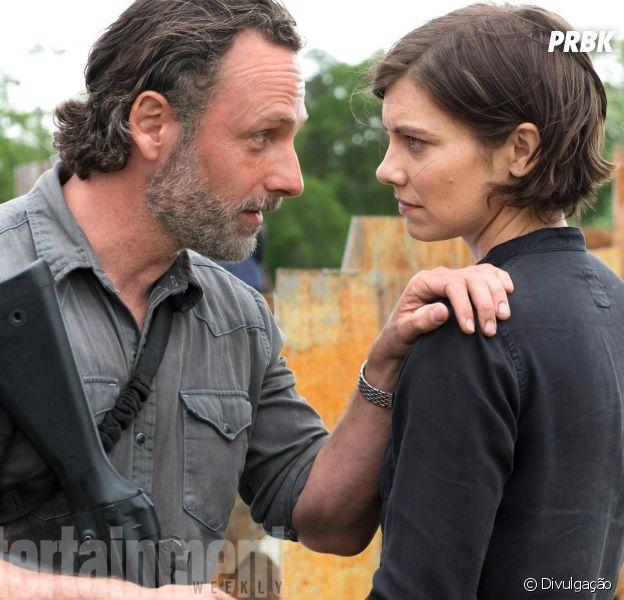 """De """"The Walking Dead"""": nova imagem da 8ª temporada é divulgada e traz Rick (Andrew Lincoln) conversando com Maggie (Lauren Cohan)"""