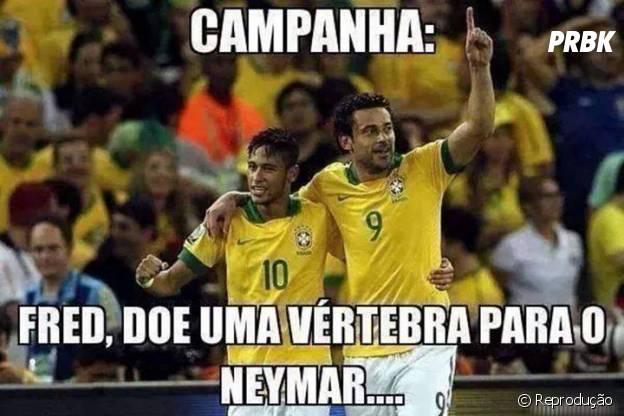 Fred bem que podia doar uma vértebra pro Neymar, né?
