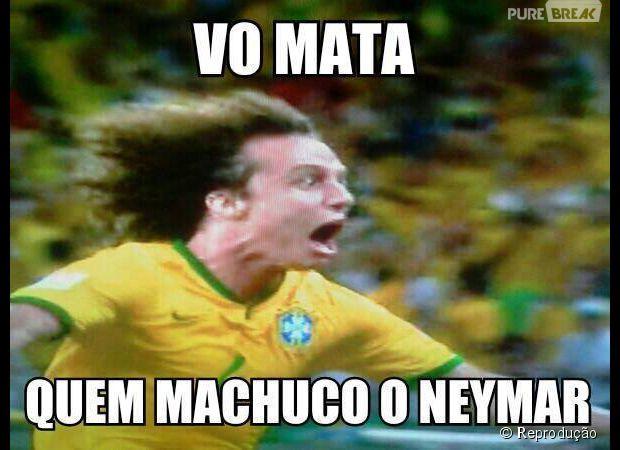 David Luiz não gostou... cuidado,  Zuñiga!