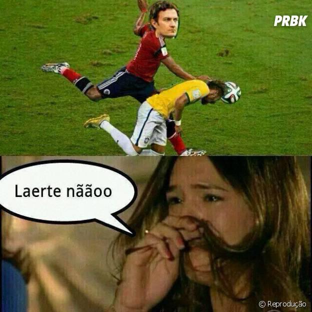 Laerte ficou com ciúme da Luiza e acertou o Neymar!