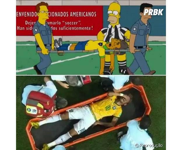 Os Simpsons já tinham previsto a contusão de Neymar!