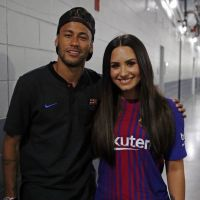 Demi Lovato e Neymar Jr. se encontram em partida do jogador nos EUA!