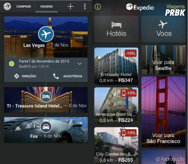 Os hotéis podem ser organizados por preço, quantidade de estrelas e mais populares