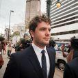 O ator Austin Swift , irmão de Taylor Swift, esteve presente no tribunal