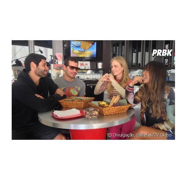 """Angélica se divertiu com Dudu Azevedo, Thiago Martins e Dani Suzuki na gravação do """"Estrelas"""" em Las Vegas, nos EUA"""