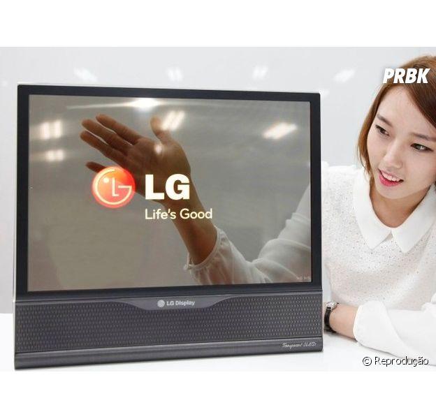 LG mostra televisões flexíveis e transparentes nesta quinta-feira (10)