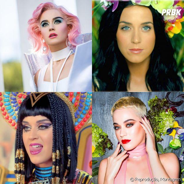Katy Perry e as suas transformações para os clipes