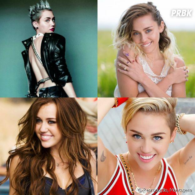 Miley Cyrus também é uma artista que vive mudando de visual para os seus clipes
