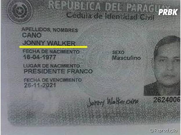 Jonny Walker, o Johnnie Walker paraguaio